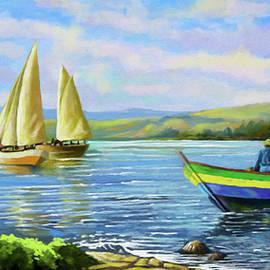Anthony Mwangi - Boats at Lake Victoria