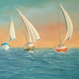 Radoslav Nedelchev - Boats in the sea
