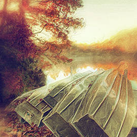 Dan Carmichael - Boats on Price Lake During Autumn Sunrise AP