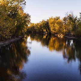 Vishwanath Bhat - Boise River Autumn evening in Boise Idaho