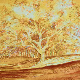 Valerie Anne Kelly - Bones of the Cork Tree-Landscape Painting By V.kelly