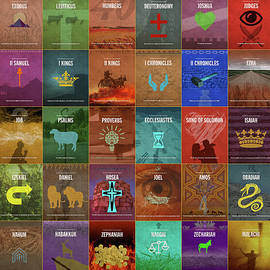 Books of the Old Testament Graphic Design Minimal Poster Series Complete - Design Turnpike