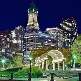 Frozen in Time Fine Art Photography - Boston Above Christopher Columbus Park