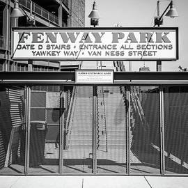 Boston Fenway Park Sign Black and White Photo - Paul Velgos