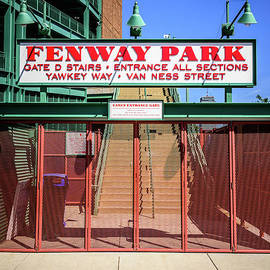 Boston Fenway Park Sign Gate D Entrance - Paul Velgos
