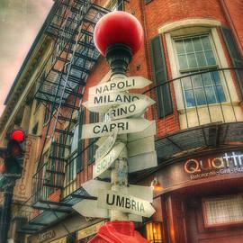 Joann Vitali - Boston North End Italian Cities Sign