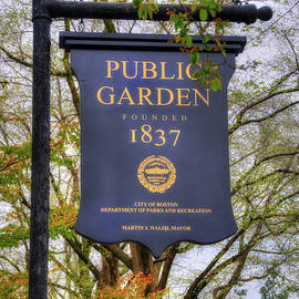 Joann Vitali - Boston Public Garden Sign