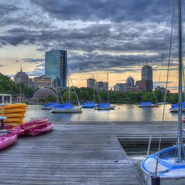 Joann Vitali - Boston Skyline at Sunset