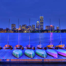 Joann Vitali - Boston Skyline from MIT Sailing Pavilion