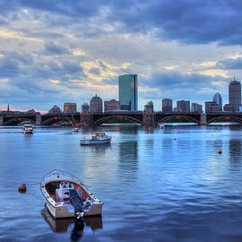 Joann Vitali - Boston Skyline on the Charles River at Sunset