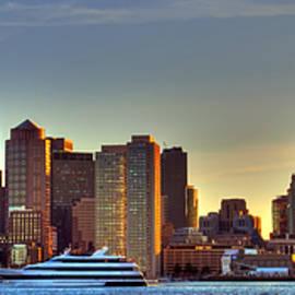 Joann Vitali - Boston Skyline Panoramic from Boston Harbor