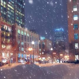 Joann Vitali - Boston Snowstorm in Back Bay