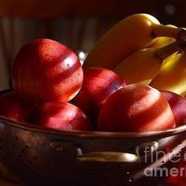 R Muirhead Art - Bowl Of Fruit Bananas Peaches