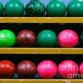 Bowling Balls in Ball Rack - Paul Velgos