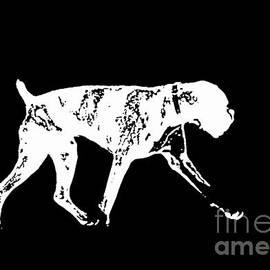 Boxer Dog Tee White Ink - Edward Fielding