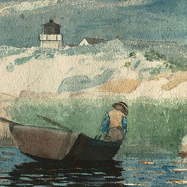 Boy in Boat Gloucester - Winslow Homer