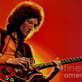 Paul Meijering - Brian May of Queen Painting