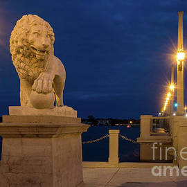 Dawna Moore Photography - Bridge of Lions at Blue Hour, St. Augustine, Florida