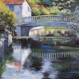 Cathy MONNIER - Painting Bridge on Charente river