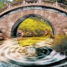 Ericamaxine Price - Bridge Over the Pond-Watercolor