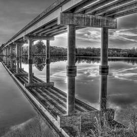 Reid Callaway - Bridge Reflections Black and White Bridge Art