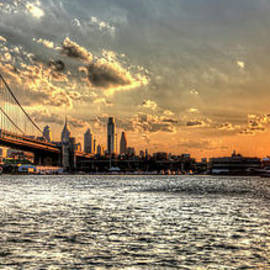 Mark Ayzenberg - Bridging two cities. Philly skyline view from Camden.