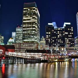 Frozen in Time Fine Art Photography - Bright Boston Lights on the Water