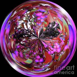 Brenda Spittle - Bright Purple and Red Orb