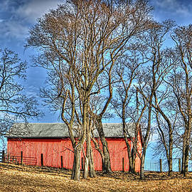 William Sturgell - Bright Red Barn and a Deep Blue Sky