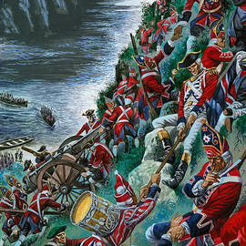 British soldiers make the arduous ascent of the Heights of Abraham to take Quebec - Peter Jackson