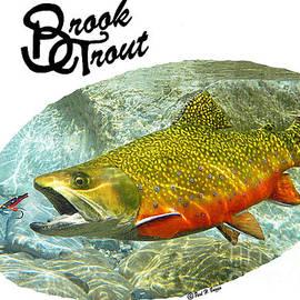Paul Buggia - Brook Trout T-shirts art