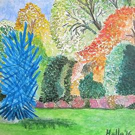 Carmela Maglasang - Brooklyn Botanical Garden and Blue Sculpture