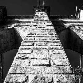 James Aiken - Brooklyn Bridge - Pier - BW
