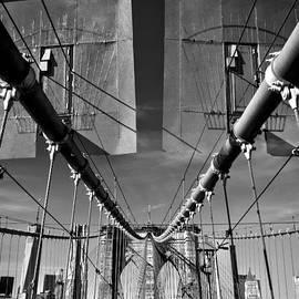 James Aiken - Brooklyn Bridge - To Manhattan - BW