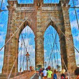 Allen Beatty - Brooklyn Bridge Tower 4 - Digital Painting