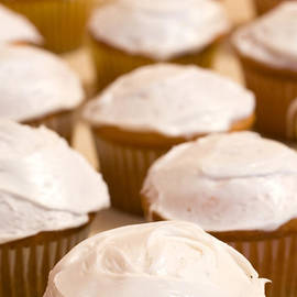Brown Cupcakes with White Frosting - Paul Velgos