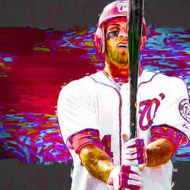 David Haskett - Bryce Harper Washington Nationals MLB Baseball Painting Digital