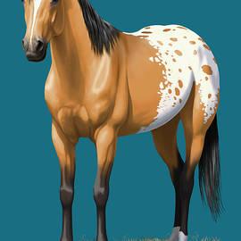 Buckskin Appaloosa Horse - Crista Forest