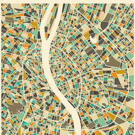 BUDAPEST MAP 2 - Jazzberry Blue
