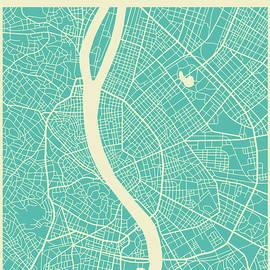 BUDAPEST STREET MAP - Jazzberry Blue