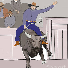 Fred Jinkins - Bull Riding at Rodeo