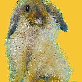 Jan Matson - Bunny Painting on yellow background