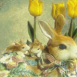 Janette Boyd - Bunny with Yellow Tulips