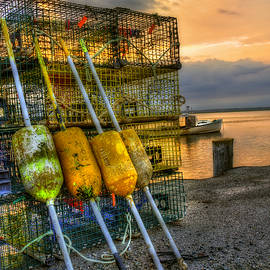 Joann Vitali - Buoys and Lobster Traps at Sunset