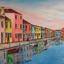 Irving Starr - Burano Italy Reflections