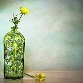 Melissa Bittinger - Buttercups Wildflowers in Vase Still Life Floral