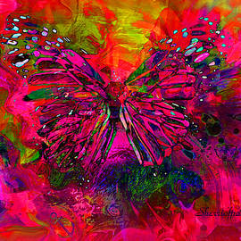 Sherri  Of Palm Springs - Butterfly Art  They Are The Spirit Of Peace  by Sherriofpalmsprings