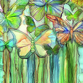 Carol Cavalaris - Butterfly Bloomies 3 - Rainbow