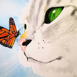 Carol Blackhurst - Butterfly-Kissed Grey tabby