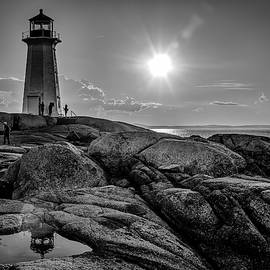 Ken Morris - BW of Iconic Lighthouse at Peggys Cove